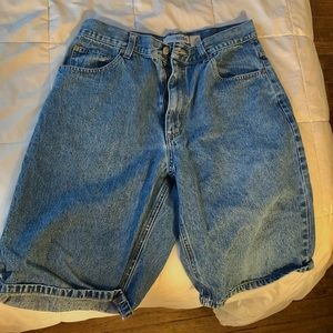 DENIM LOOSE SHORTS